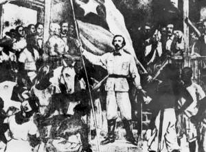 """Carlos Manuel de Céspedes con """"La Demajuaga"""""""