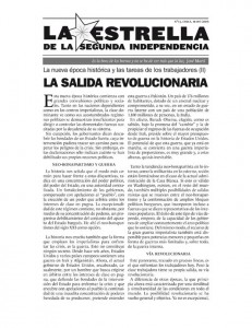 La Estrella de la Segunda Independencia Nº13