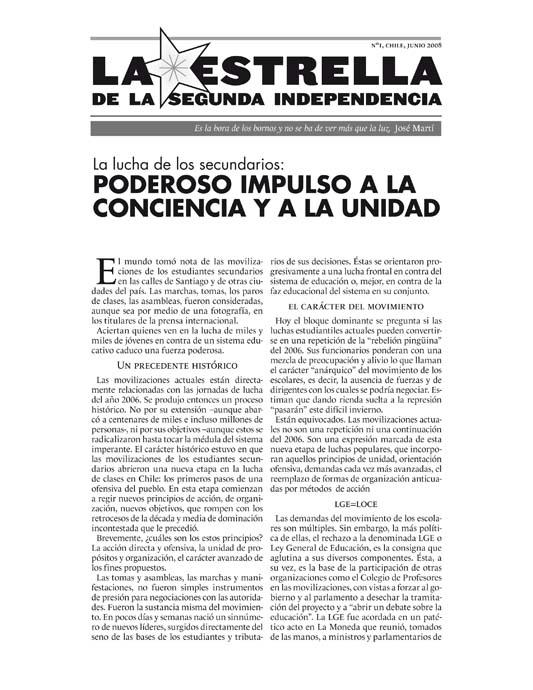 La Estrella de la Segunda Independencia Nº01